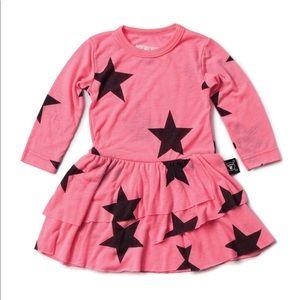 Nununu star print baby girl dress
